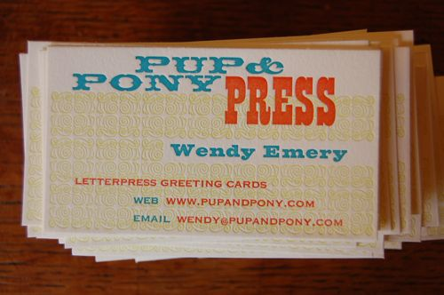 The official card of Pup & Pony Press